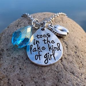 Toes in the Lake Kind of Girl Necklace